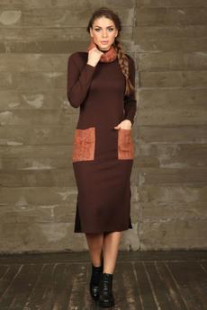 Теплое платье + снуд Mondigo