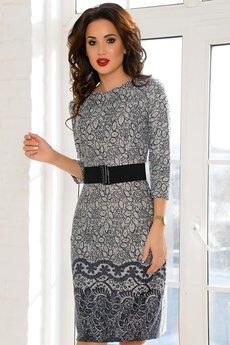 Серое трикотажное платье Open-Style
