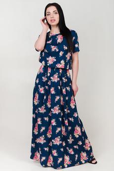 Новинка: платье в пол из штапеля Шарлиз