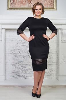 Черное платье с кружевом Angela Ricci