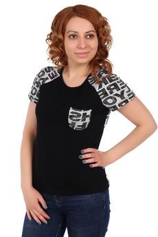Черная футболка с карманом ElenaTex
